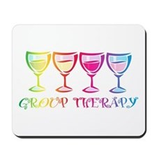 Wine Group Therapy 2 Mousepad