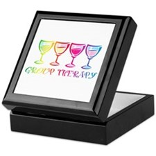 Wine Group Therapy 2 Keepsake Box
