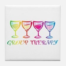 Wine Group Therapy 2 Tile Coaster