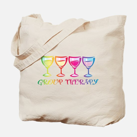 Wine Group Therapy 2 Tote Bag