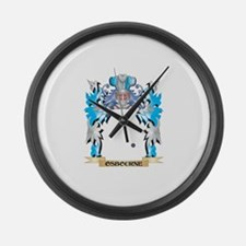 Osbourne- Coat of Arms - Family C Large Wall Clock