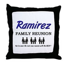 Ramirez Family Reunion Throw Pillow