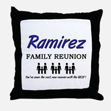 Ramirez Family Reunion Throw Pillow