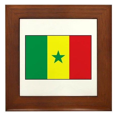Senegal Flag - Gambia Framed Tile
