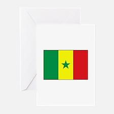 Senegal Flag - Gambia Greeting Cards (Pk of 10