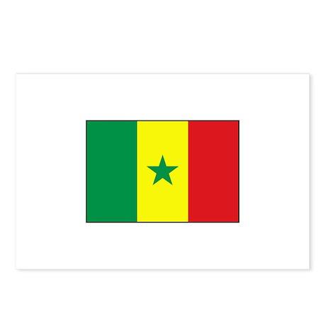 Senegal Flag - Gambia Postcards (Package of 8)