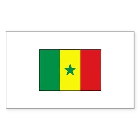 Senegal Flag - Gambia Rectangle Sticker