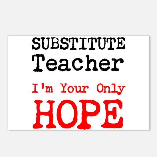 Substitute Teacher Im Your Only Hope Postcards (Pa