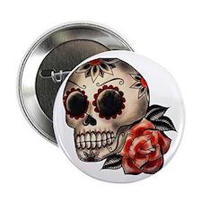 "Sugar Skull 034 2.25"" Button"