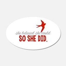 She Believed She Could Wall Decal