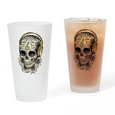 Sugar Skull 008 Drinking Glass