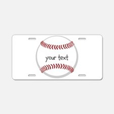 Baseball Aluminum License Plate