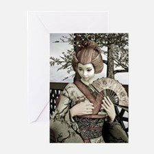 Vintage Geisha Greeting Cards