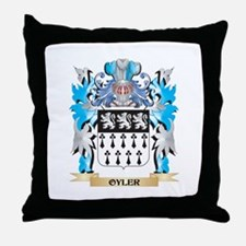 Oyler Coat of Arms - Family Crest Throw Pillow