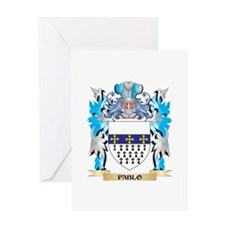 Pablo Coat of Arms - Family Crest Greeting Cards