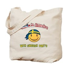 Made in America with Swedish part's Tote Bag
