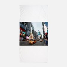 Super! Professional photo Times Square Beach Towel