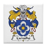 Carvalho family crest Drink Coasters