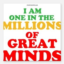 """GREAT MINDS Square Car Magnet 3"""" x 3"""""""