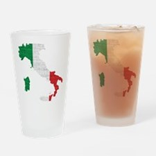 Cute Flag italian sicily pride Drinking Glass