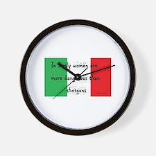 In Sicily Wall Clock