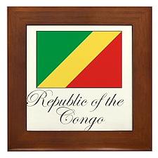 Republic of the Congo - Flag Framed Tile