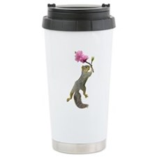 Squirrel Peach Blossom Travel Mug