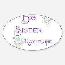 Big Sister Katherine Oval Decal