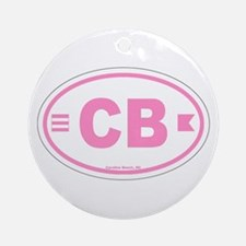 Carolina Beach Ornament (Round)