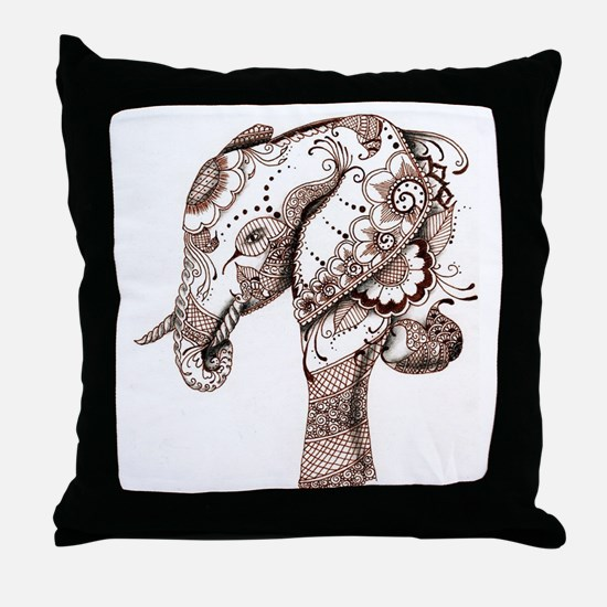 Funny Henna Throw Pillow