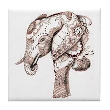 Unique Elephants Tile Coaster