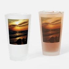 Unique Red sunrise Drinking Glass