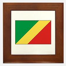Republic of the Congo Flag Framed Tile