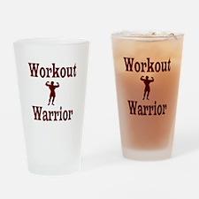 Workout Warrior Drinking Glass