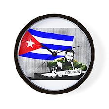 President Fidel Alejandro Castro Ruz Cu Wall Clock