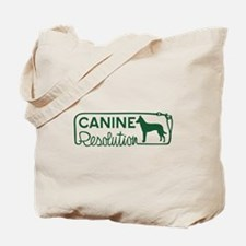 canine resolution Tote Bag