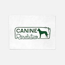 canine resolution 5'x7'Area Rug