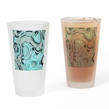 abstract turquoise swirls Drinking Glass