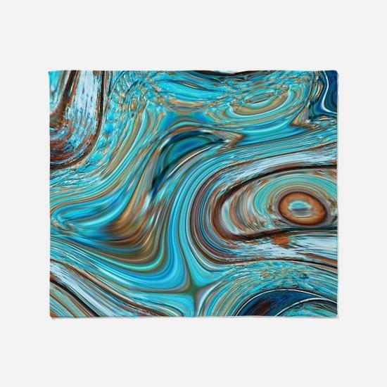 rustic turquoise swirls Throw Blanket