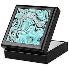 abstract turquoise swirls Keepsake Box