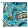 rustic turquoise swirls Shower Curtain
