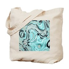 abstract turquoise swirls Tote Bag