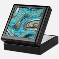 rustic turquoise swirls Keepsake Box