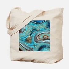 rustic turquoise swirls Tote Bag