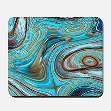 rustic turquoise swirls Mousepad