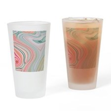girly coral mint pattern Drinking Glass