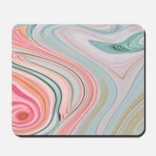 girly coral mint pattern Mousepad