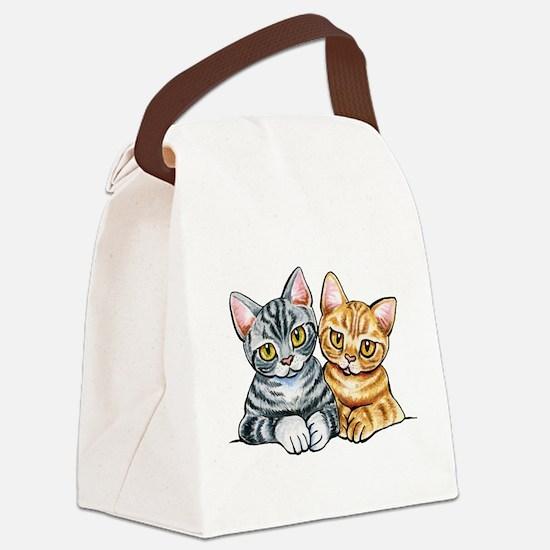 2 American Shorthair Canvas Lunch Bag