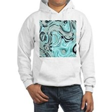 abstract turquoise swirls Hoodie