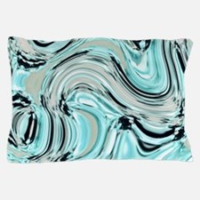 abstract turquoise swirls Pillow Case